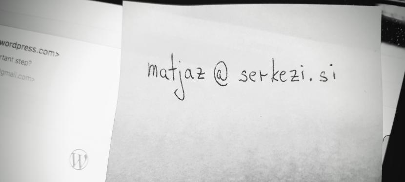… potem mi pa piši:)